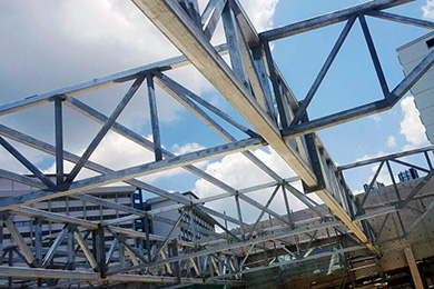 BUILDING STEEL STRUCTURE WORKS
